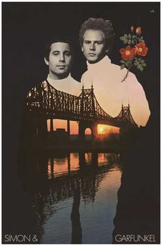 Simon and Garfunkel Bridge Over Troubled by VintagePosterPlace