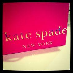 Love Kate Spade's bright pink packaging.
