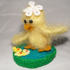 Easter Chick Ornament - Knitted Textile Gift, Paradis Terrestre - Luxury British Made Accessories & Homeware Easter Chick, Unique Cards, Cute Animals, Greeting Cards, British, Creatures, Textiles, Make It Yourself, Christmas Ornaments