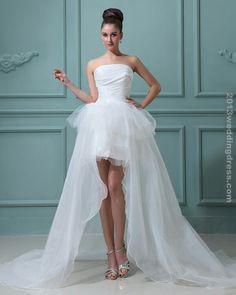 short and long wedding dress