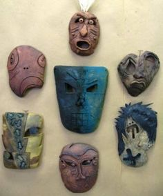 Clay Mask Egyptian Lesson Ideas Pinterest Clay