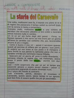 Il Carnevale – Maestra P.I.C. Vintage School, Learning Italian, Teaching Activities, Teaching Materials, Problem Solving, Coding, Columns, Snoopy, Type
