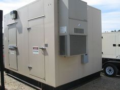 USED GENERATOR PARALLELING SWITCHGEAR NEMA3R THERMO-ACCOUSTIC ENCLOSURE
