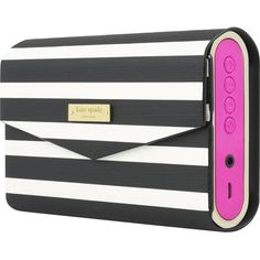 kate spade new york Portable Speaker: Blast your favorite tunes wherever you are with this lightweight speaker, which pairs with your Bluetooth-enabled audio devices for wireless listening and features a chic print. Convert the protective cover into a kickstand to support the speaker on your table or shelf.