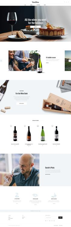 A full ecommerce site, with branding, for the next generation wine retailer. Design Web, Homepage Design, Web Design Services, Layout Design, Ecommerce Webdesign, Webdesign Layouts, Restaurant Web, Branding, Website Design Inspiration