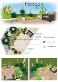 Mexican patio. Make your own project with MyGreenSpace http://mygreenspace.pl/en