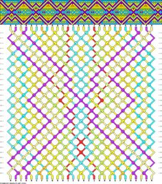 Friendship bracelet pattern 39061 - 28 strings, 9 colours