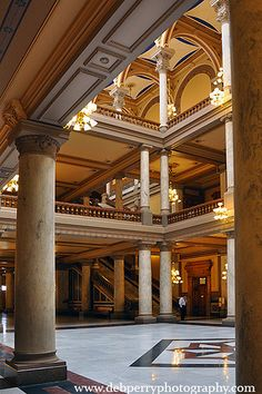 north atrium of the Indiana Statehouse, Indianapolis, Indiana