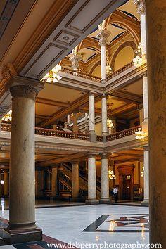 north atrium of the Indiana Statehouse, Indianapolis, Indiana-- #IndianaMustSee