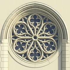 Gothic Rose Window Tracery on Behance More. I like this rose window because it's simple and doesn't have a lot of colors in it. Gothic Architecture Drawing, Architecture Windows, Cathedral Architecture, Architecture Details, Ancient Architecture, Cathedral Windows, Church Windows, Gothic Cathedral, Gothic Windows