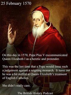The excommunication of Queen Elizabeth I British History, King Queen, Queen Elizabeth, England, Junk Journal, Queens, Scrapbook, English, Thea Queen