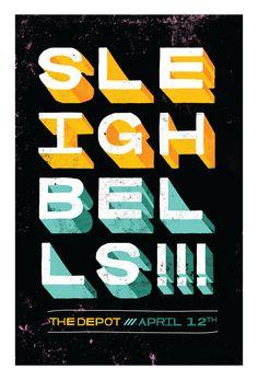 Sleigh Bells Gig Poster
