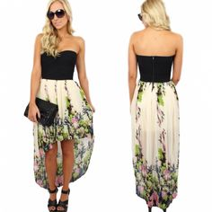 Gorgeous new pleated #highlow #floral #dress ($39.99) now available online and instore at #sophieandtrey! www.sophieandtrey.com #highlowdress
