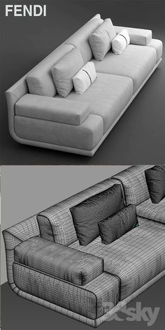 models: Sofa - Sofa fendi casa artu sofa (With images) White Leather Sofa Bed, Leather Corner Sofa, Suede Sofa, Wooden Sofa Designs, Sofa Set Designs, L Shaped Sofa Bed, Sofa Come Bed, Futon Sofa, Sofa Beds