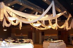 Flowers, Reception, Centerpiece, Decor, Backdrop, Draping, Ceiling