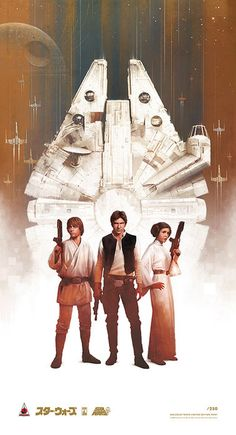 The Millenium Falcon ~ Han, Luke & Leia.