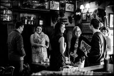 Wedding guests gathered in the medieval bar at Maunsel House, more on the blog -