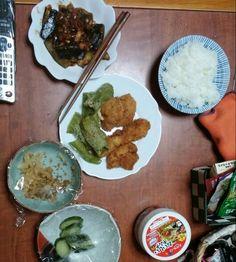9月19日(金) 曇り雨 ササミ ピーマン 茄子の味噌炒め キムチ 62.9