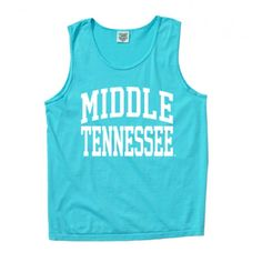 These Middle Tennessee tank tops are perfect for of all ages and are a hit with MTSU students. Look cute while still showing off your True Blue pride, whether you're headed to class, the gym or a football game. It can even be a beach cover up! #trueblue #MTSU #comfortcolors #textbookbrokers