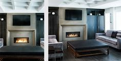 Modern Concrete Fireplace Surround by Anthony Concrete Design