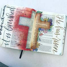 I got a lot accomplished at the monthly SBC Bible Journaling day today in John. . . . . #biblejournaling #bibleverse…