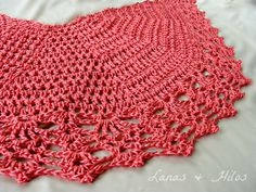 """CHAL VELOZ para el verano     [Made by /  Hecho por : Beatriz]       How about an """"All-Shawl"""" for the summer? These are two my mom made w..."""
