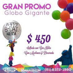 Gran Promo Globo Gigante$450 con mechones y decorado @sdanalu