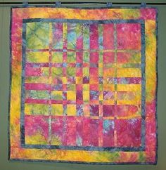 HARMONIC CONVERGENCE MULTI Completed Finished Quilt Hand Dyed Fabrics Wallhaning
