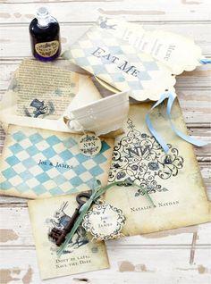 Alice in Wonderland wedding invite