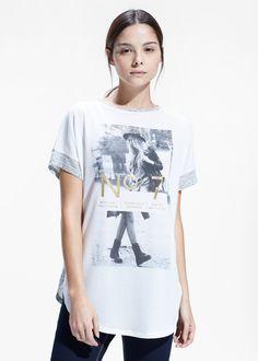 Camiseta jaspeada estampado - Mujer   MANGO 2015