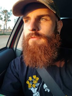 My red beard soaking up some afternoon sun - My Fashion World 2019 Ginger Men, Ginger Beard, Ginger Snaps, Long Beard Styles, Hair And Beard Styles, Great Beards, Awesome Beards, Bearded Tattooed Men, Bearded Men