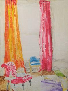 Kate Lewis  Oh, Those Curtains  katelewisart.com