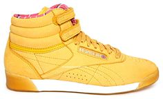 Yellow sneakers!