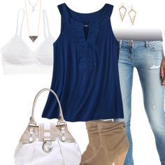 Cute Tank Top & Jeans Outfit
