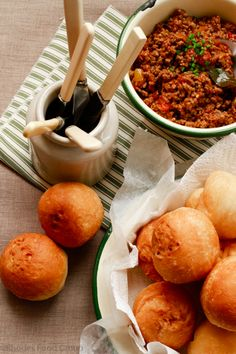 Vetkoek with curry - a South African Tradition and oh so yummy!