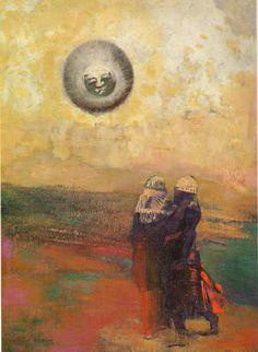 fleurdulys:  The Black Sun - Odilon Redon 1900