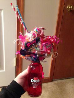 Crush soda candy bouquet