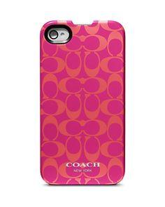 COACH Signature iPhone 4 Case | Bloomingdale's- $26.60