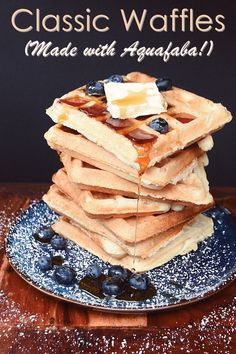 What is aquafaba? We have selected some really easy and delicious aquafaba recipes and Egg Free Recipes, Waffle Recipes, Vegan Recipes, Pancake Recipes, Crepe Recipes, Vegan Menu, Vegan Foods, Vegan Cake, Vegan Desserts