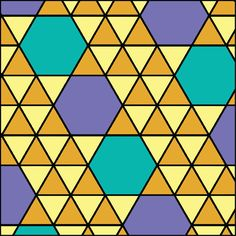 More on the hexagon, equilateral triangle class of pattern.