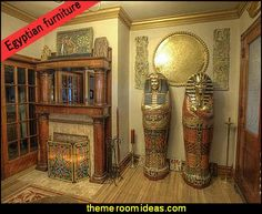 egyptian themed furniture King Tutankhamen's Life-Size Sarcophagus Cabinet egyptian themed furniture  #Amazmerizing