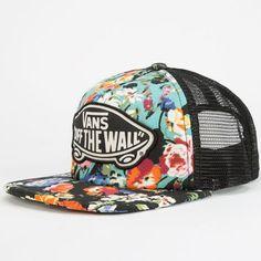 a0eb994114b Vans Beach Girl Womens Trucker Hat Black Combo One Size For Women  24803814901 Truck Caps