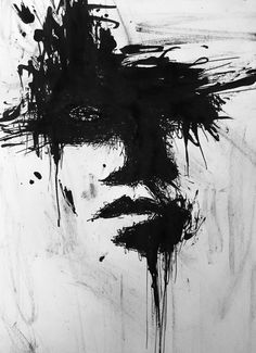 #experimental#with#ink#woman#face