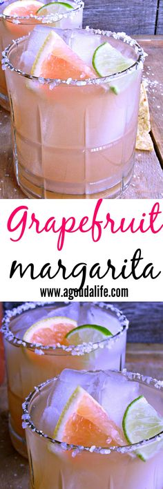 Grapefruit Margarita ~ the perfect balance of sweet and tangy ~ a classic beverage with a tropical twist. Enjoy with chips and salsa for easy entertaining.