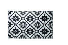 Pattern badmat zwart - Badmatten