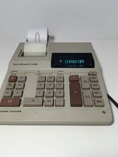 Texas Instruments TI-5130 Calculator Electronic Printing Adding Machine Vintage #TexasInstruments