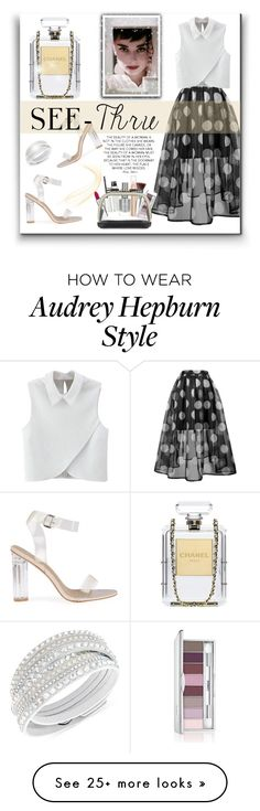 """I see You"" by willapritia on Polyvore featuring WithChic, Chanel, Givenchy, New Look, Trish McEvoy, Clinique, Aspinal of London, Swarovski, clear and Seethru"