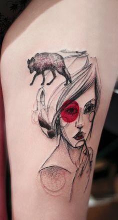 Marta Lipinski _ Love this Red Riding Hood Tattoo...