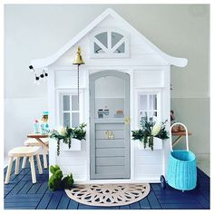 48 Ideas toys shop fun for 2019 Kids Cubby Houses, Kids Cubbies, Play Houses, Backyard Playhouse, Build A Playhouse, Backyard Playground, Kids Outdoor Play, Backyard For Kids, Wendy House
