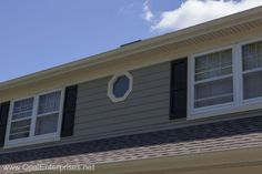 New Roofing & Monterey Taupe Siding by Opal Enterprises in Naperville #OpalCurbAppeal